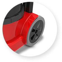 Large Rear Wheels for Stability